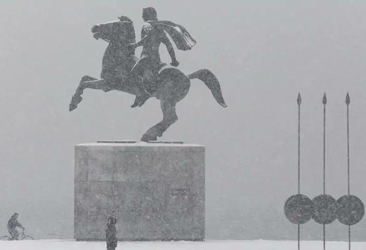 zima w Grecji