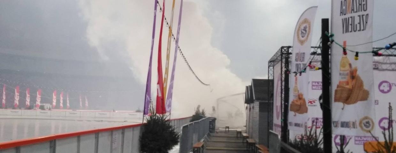 Pożar na Stadionie Narodowym