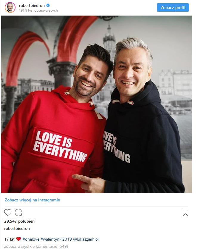 Biedroń  Instagram