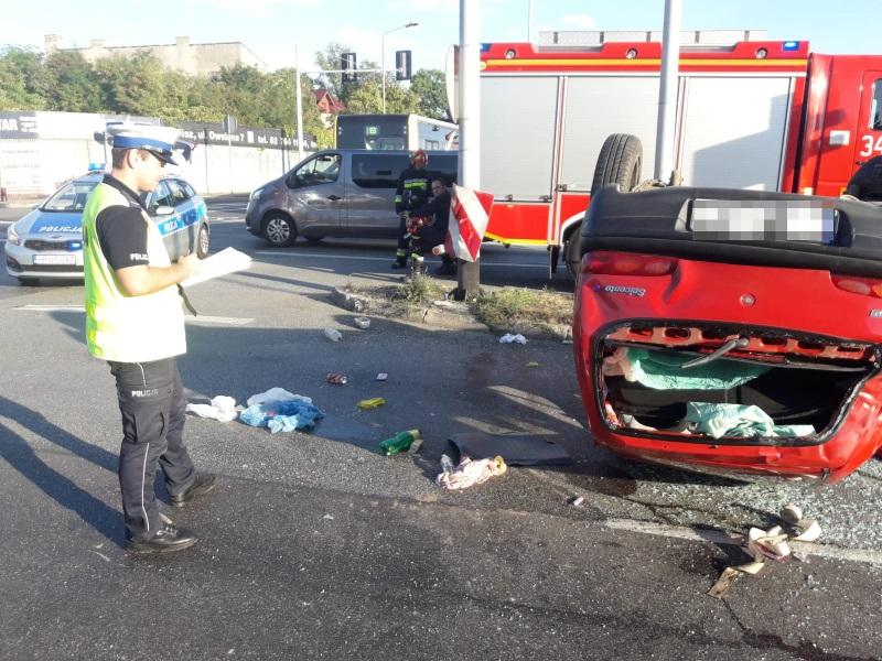 kalisz wypadek samochodowy KLA