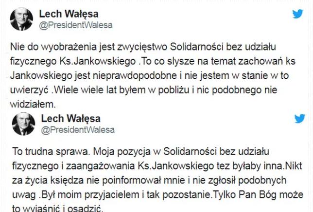 lech wałęsa jankowski twitter