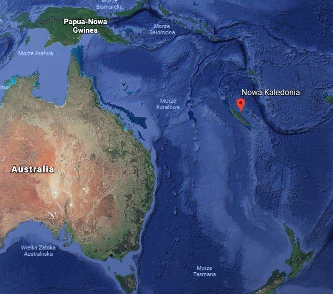 nowa kaledonia mapa Australia