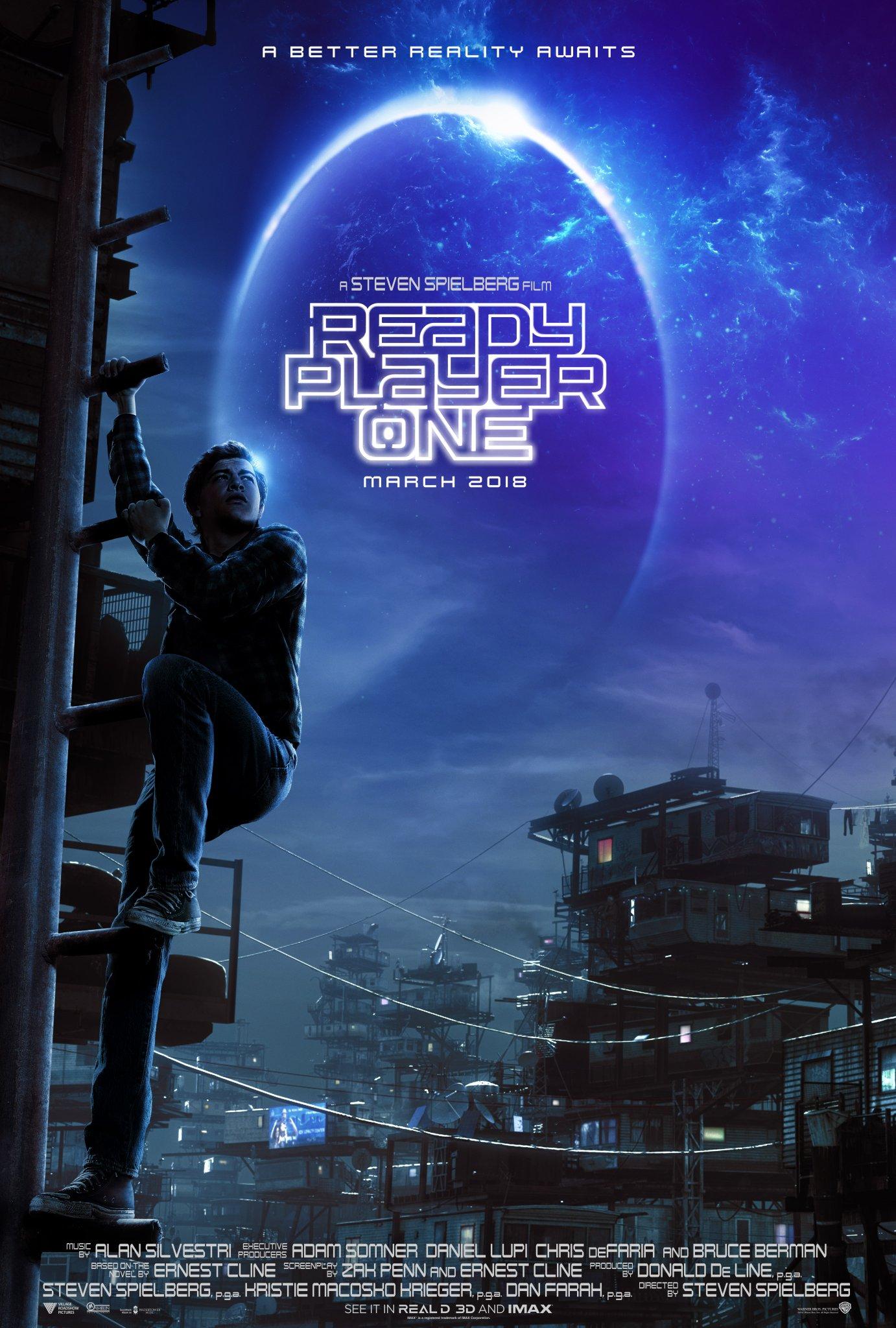"Plakat do filmu ""Ready Player One"""