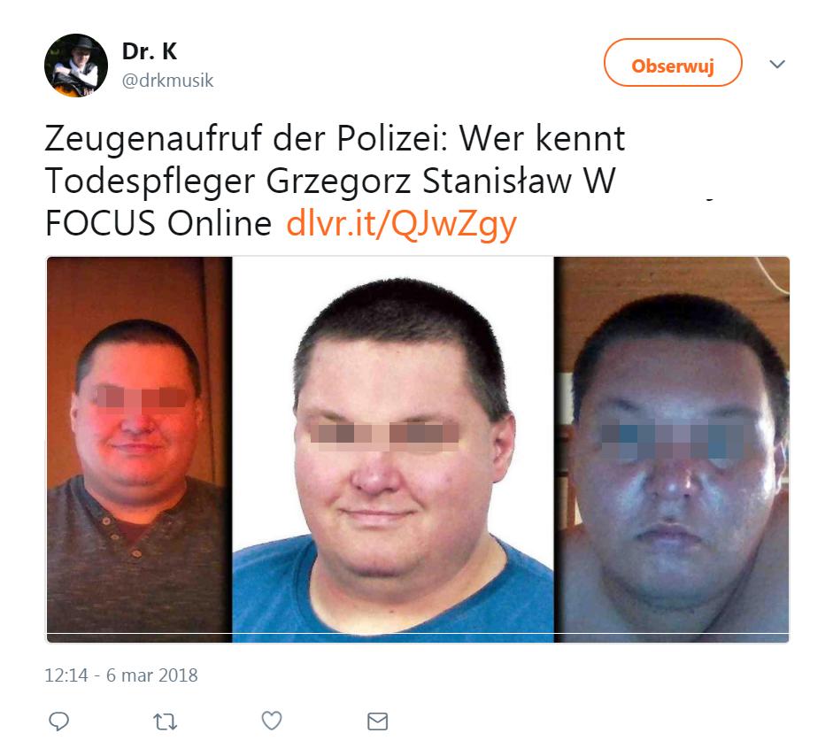 Polski pielęgniarz zatrzymany w Niemczech