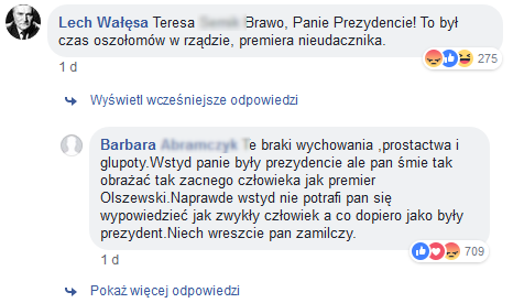 Wałęsa Facebook