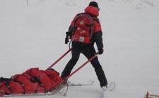 Białka Tatrzańśka, stok narciarski nr 9 Kotelnicy Białczańskiej i groźny wypadek na nartach. Nauka dziecka jazdy na nartach zakończyła się złamanymi nogami