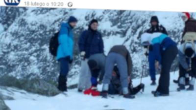 Szalona wycieczka w Tatry na najwyższy szczyt Rysy. Ukraińcy weszli tam w gumiakach, ale nie była konieczna akcja ratunkowa TOPR. Zdjęcia trafiły do sieci