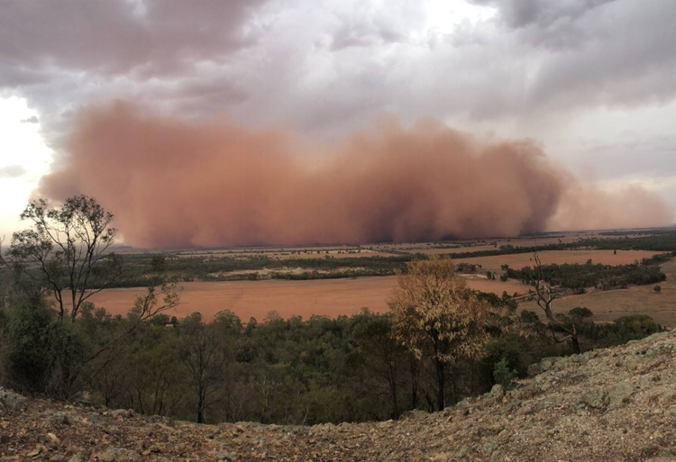burza piaskowa Australia 2