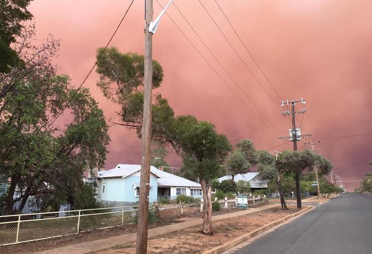 burza piaskowa Australia 5