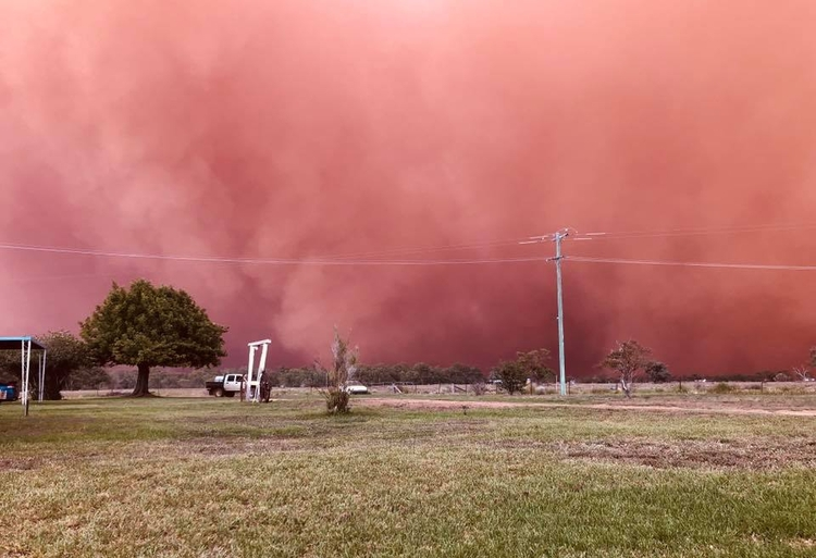 burza piaskowa Australia 7
