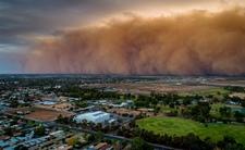 Burza pisakowa w mieście Mildura