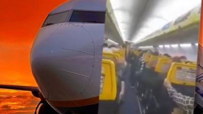 Katastrofa lotnicza wisiała na włosku - przerażające reakcje pasażerów