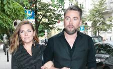 Aleksandra Kwaśniewska z mężem