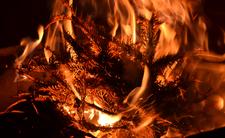 Pożar w Święta