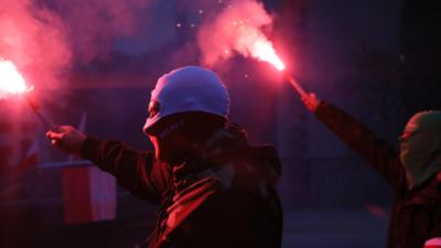 Marsz Niepodległości. Uczestnicy wzniecili pożar