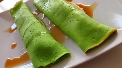 Zielone naleśniki -  przesadził z ziołami w kuchni