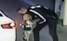 Porwał dziecko na stacji benzynowej - nagrała go kamera