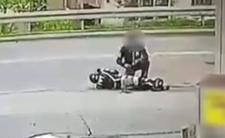 Wypadek drogowy - przez seniora motocyklista stracił nogę
