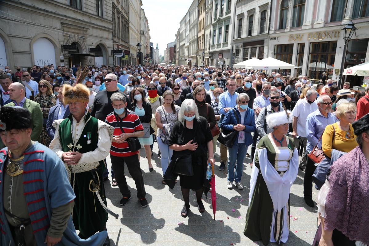 Boże Ciało - procesja w Krakowie
