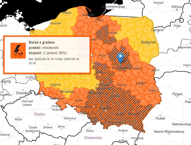 Burze w Polsce i alerty IMGW