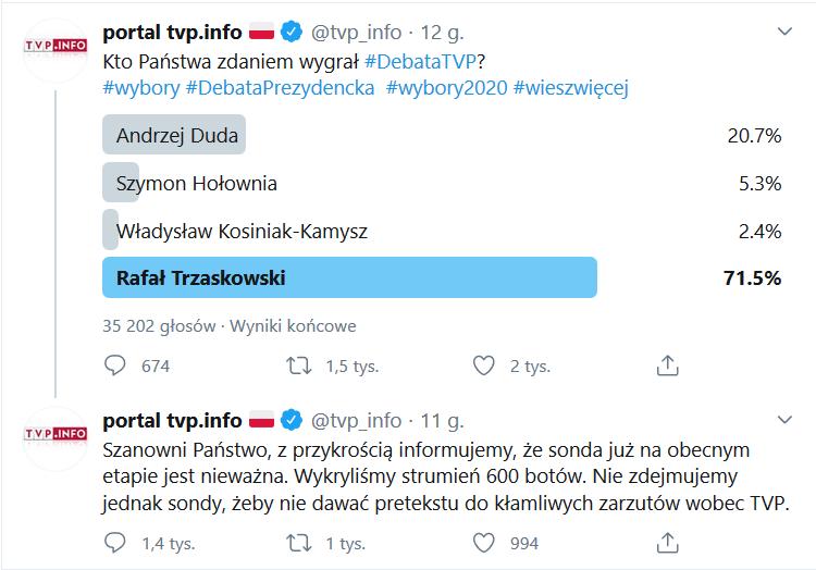 Debata w TVP