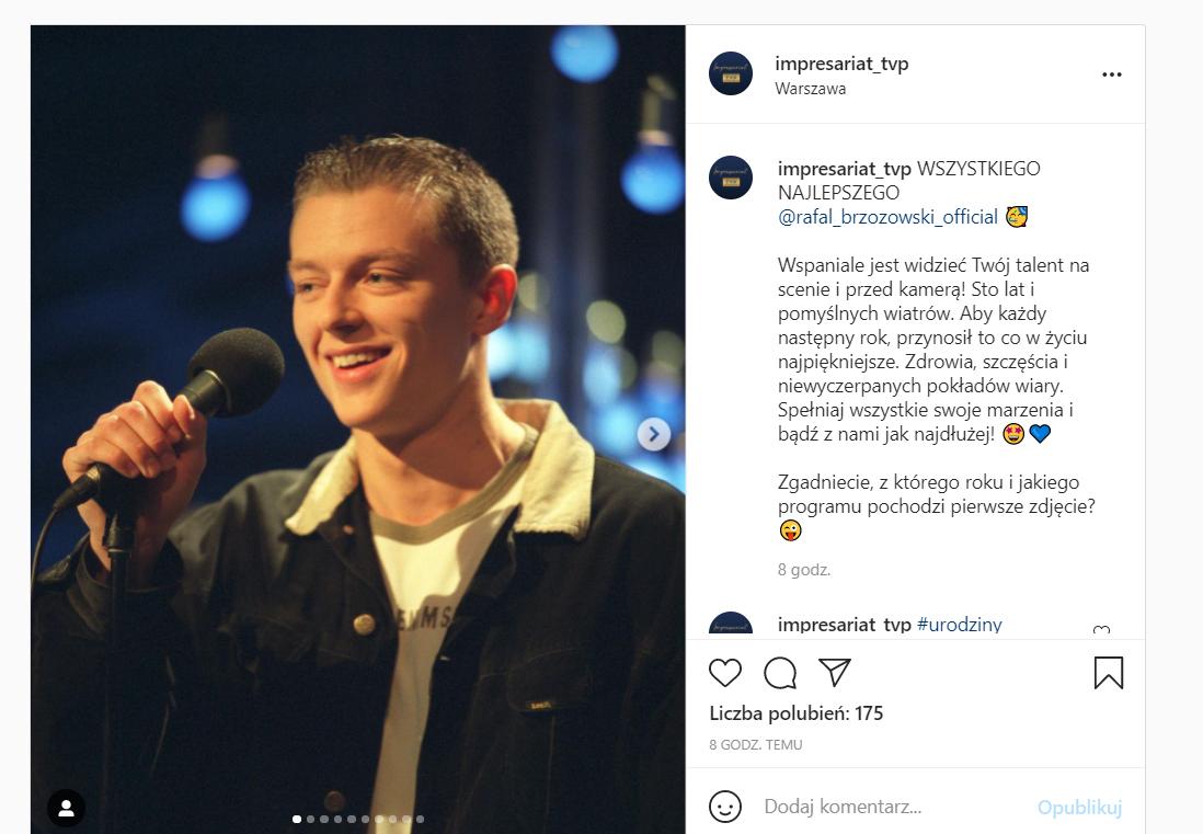 Ile lat ma Rafał Brzozowski? TVP publikuje jego zdjęcie z młodości