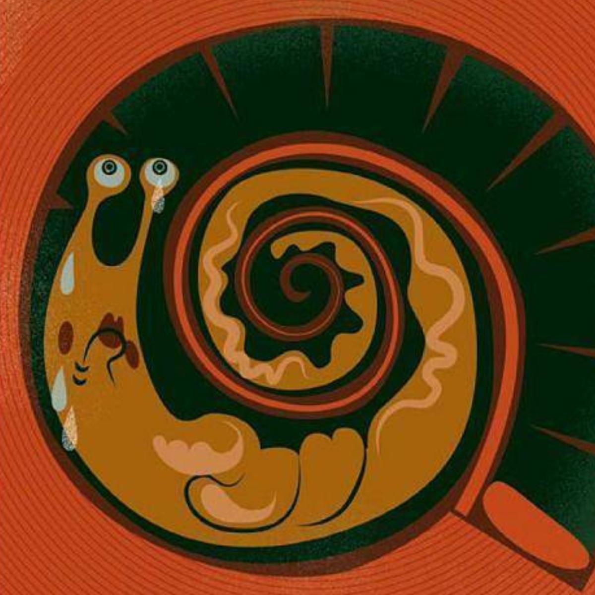 """Ilustracja z książki """"Kim jest ślimak Sam"""""""