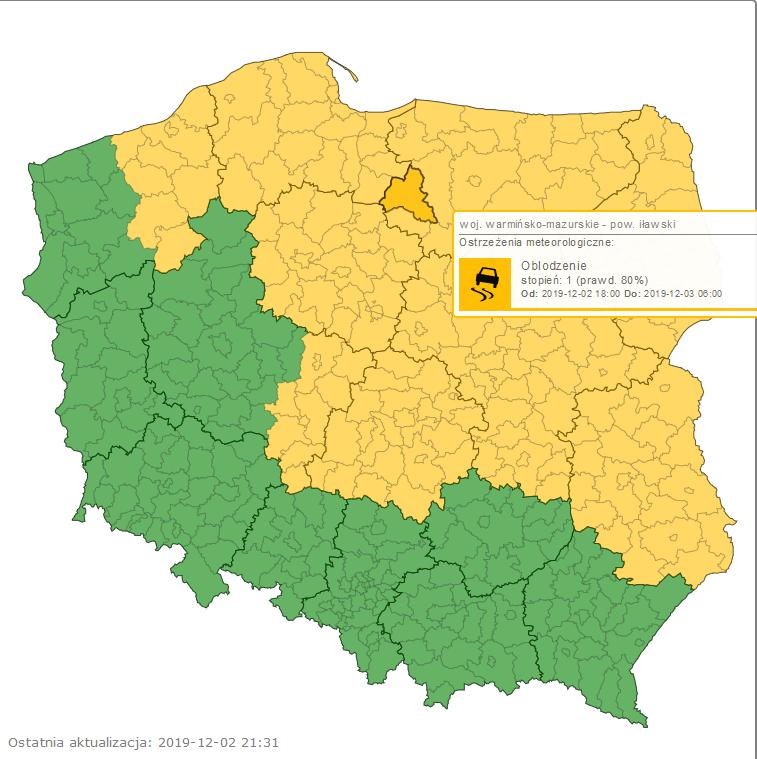 imgw mapa