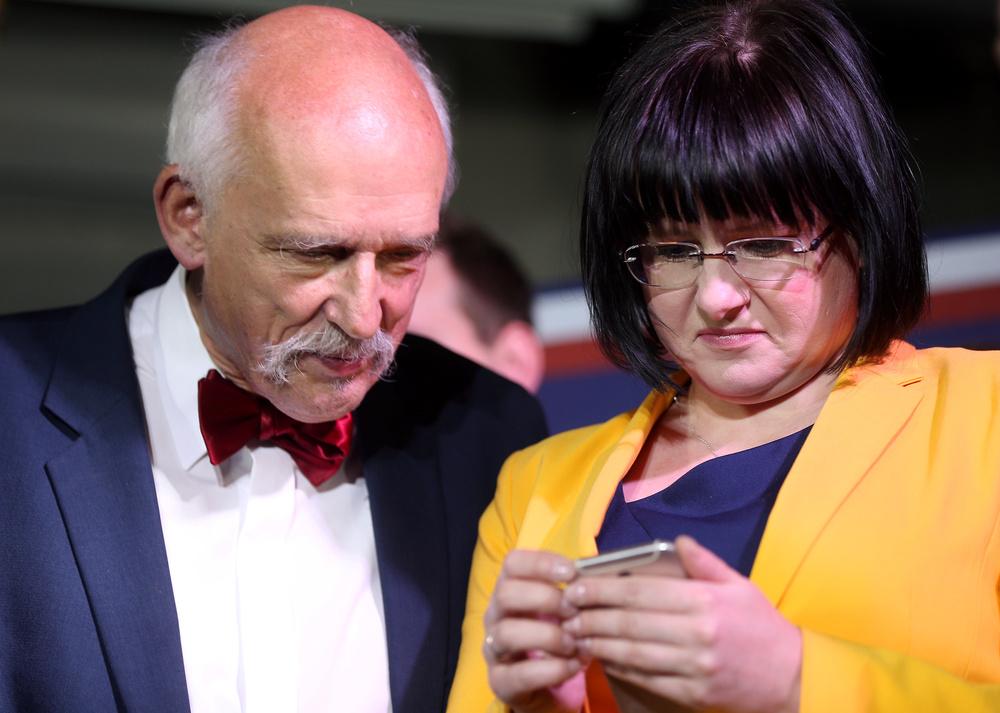 Janusz Korwin-Mikke i Kaja Godek