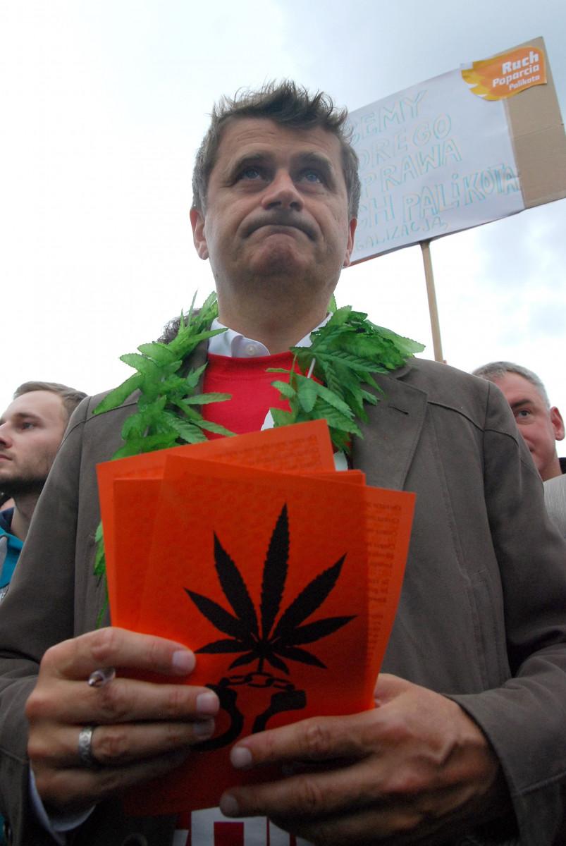Janusz Palikot na Marszu Wyzwolenia Konopii