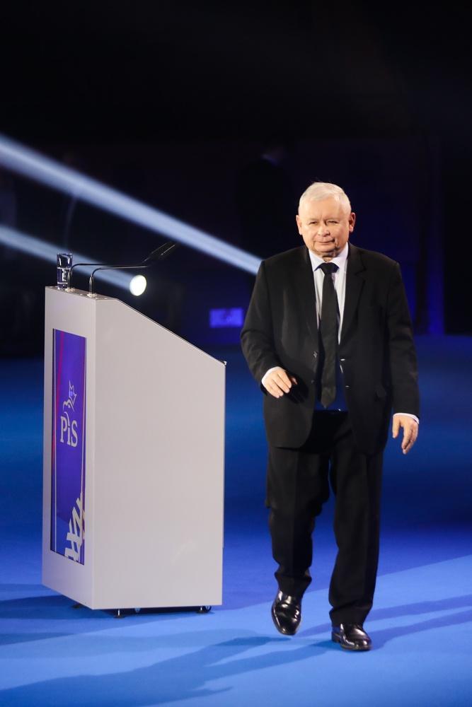 Jarosław Kaczyński w niemieckim garniturze, fot. Beata Zawrzel/REPORTER