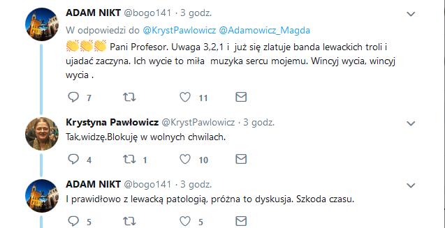 Krystyna Pawłowicz na Twitterze