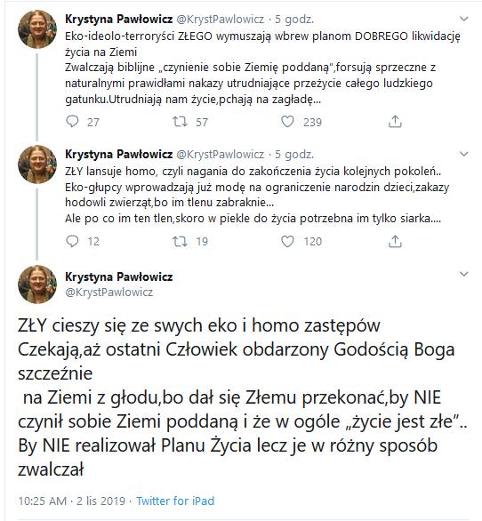 Krystyna Pawłowicz ratuje Ziemię