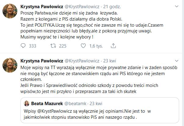 krystyna pawłowicz  twitter