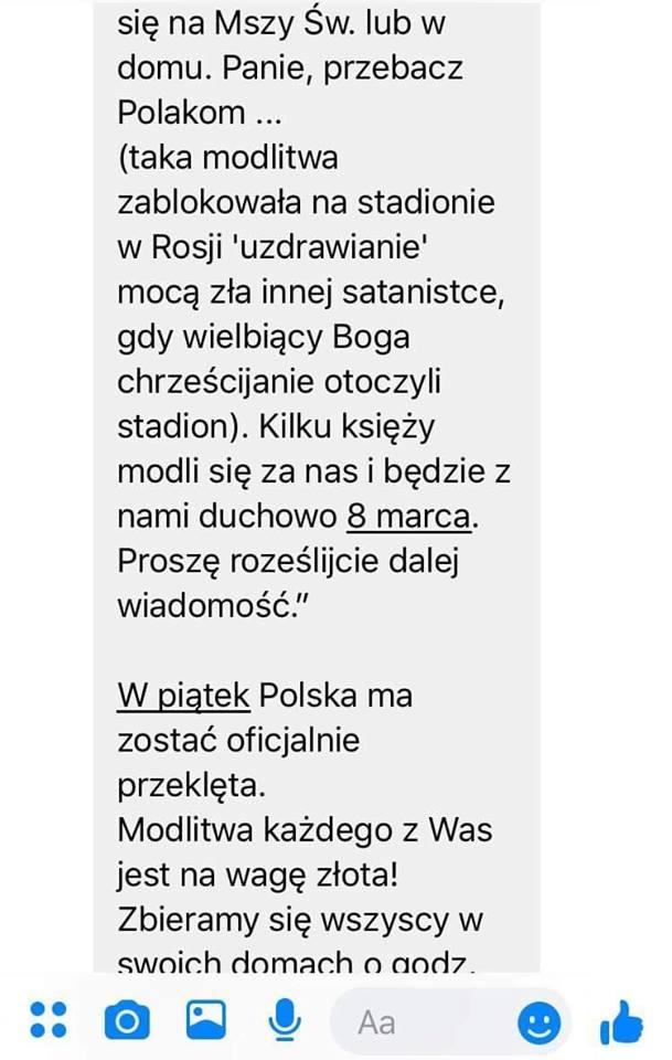 Łańcuszek przeciw przeklęciu Polski