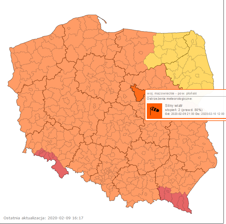 mapa imgw