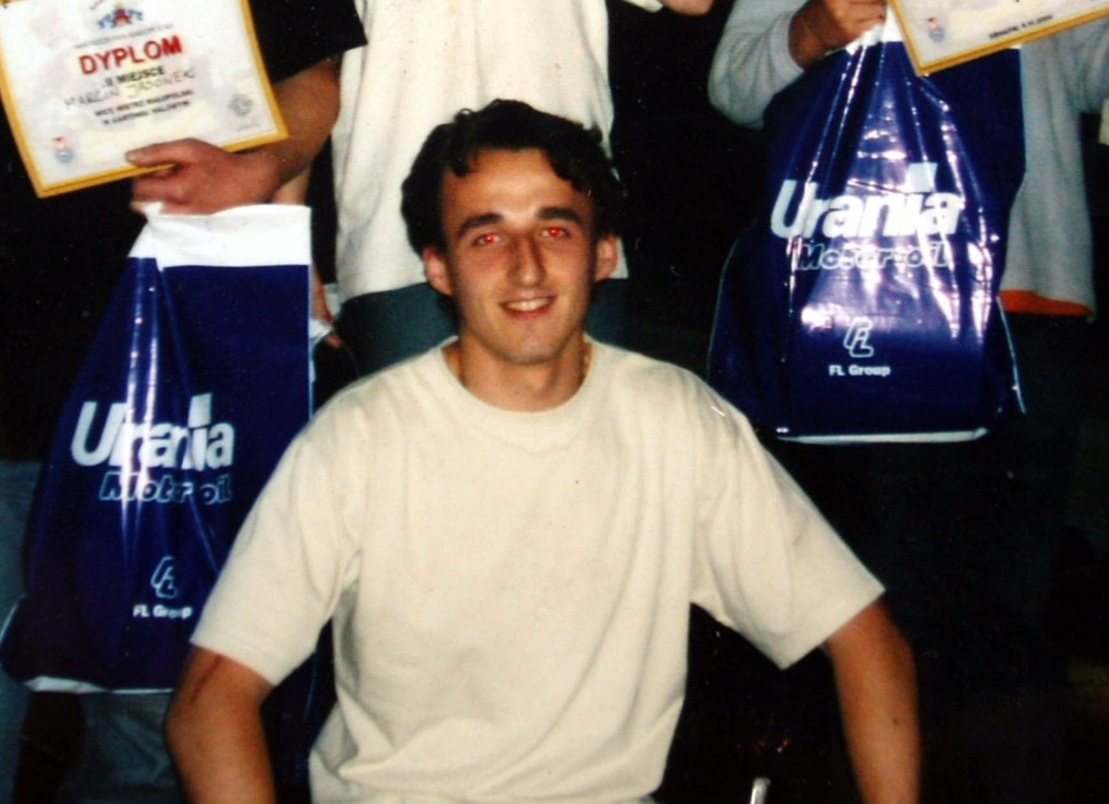Młody Robert Kubica