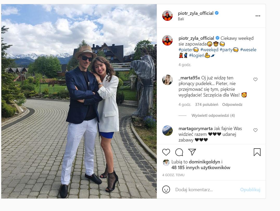 Piotr Żyła  wyskoczył na weekend z Marceliną Ziętek