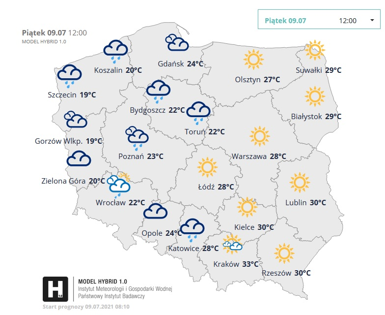Pogoda w piątek
