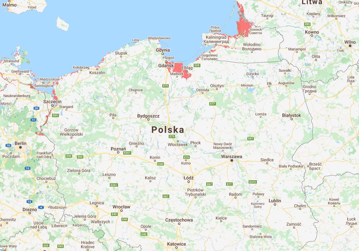 Polska pod wodą