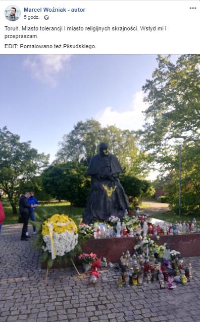 Pomnik papieża w Toruniu