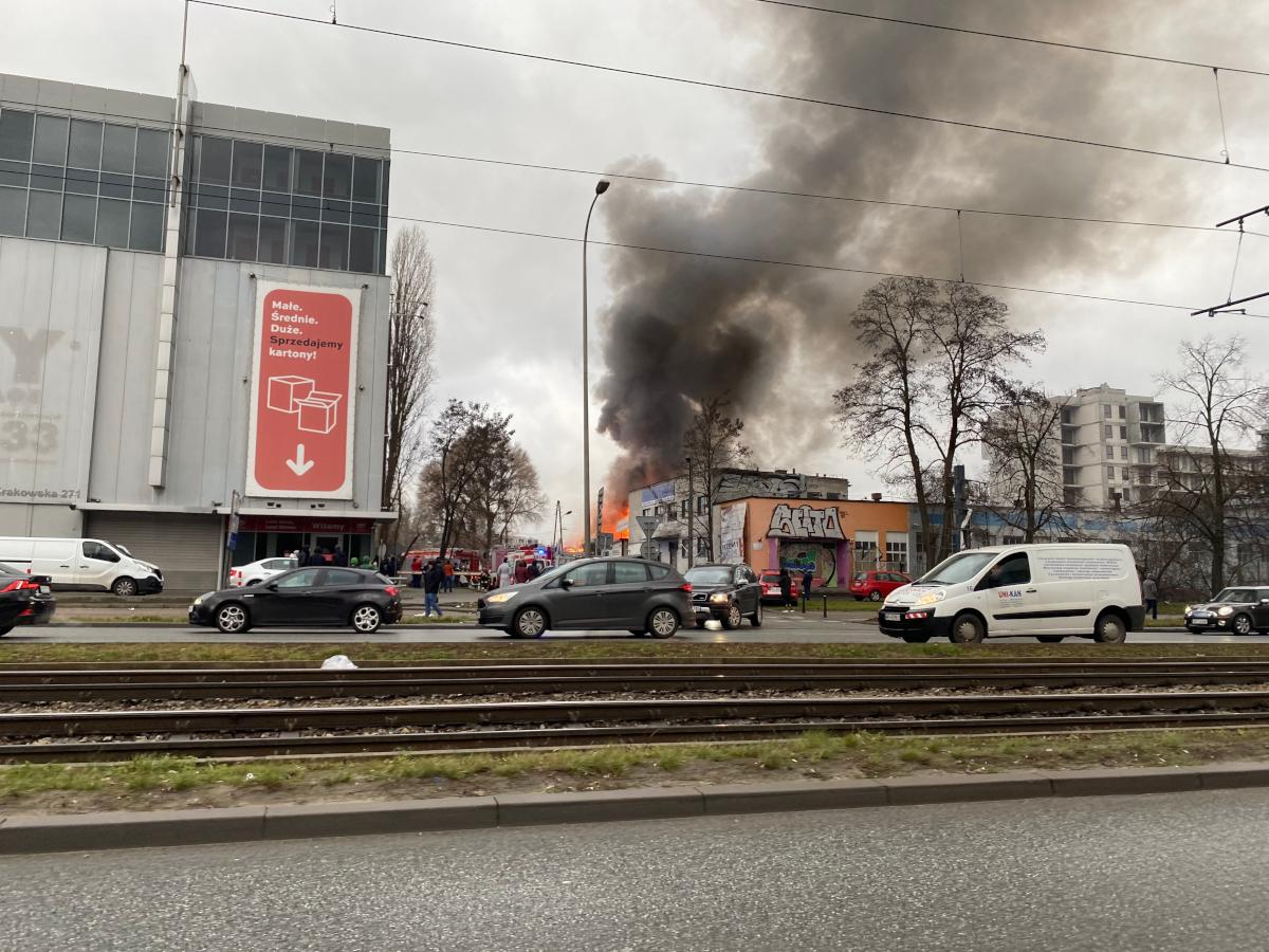 Pożar hali z fajerwerkami/radiozet.pl/zdjęcie czytelnika