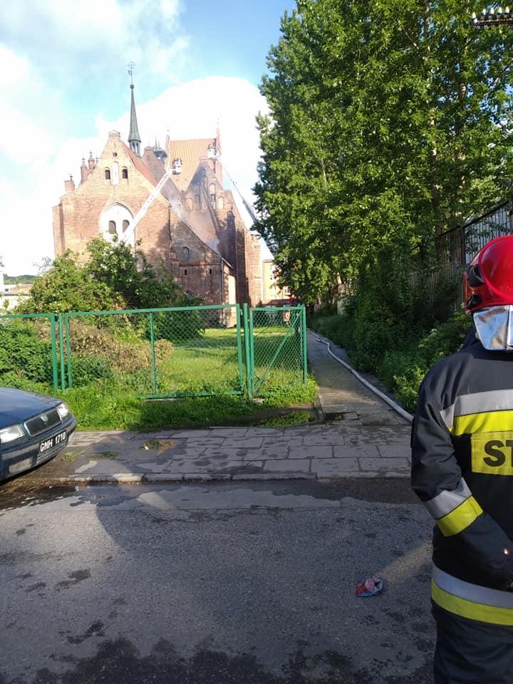 Pożar koscioła w Gdańsku