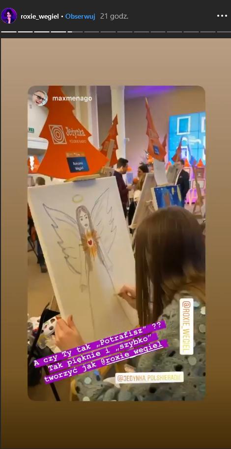 Roksana Węgiel namalowała obraz