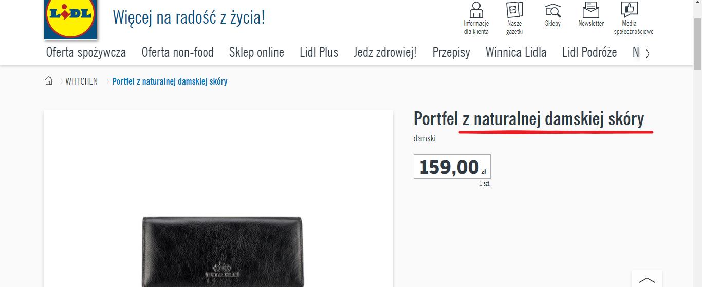screenshot lidl.pl