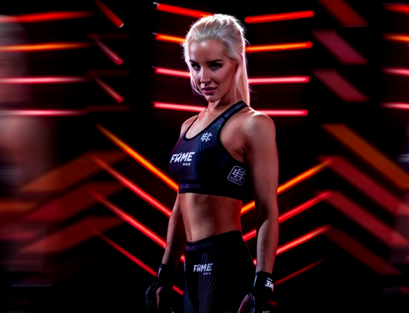 Sexmasterka  i walka na Fame MMA 4