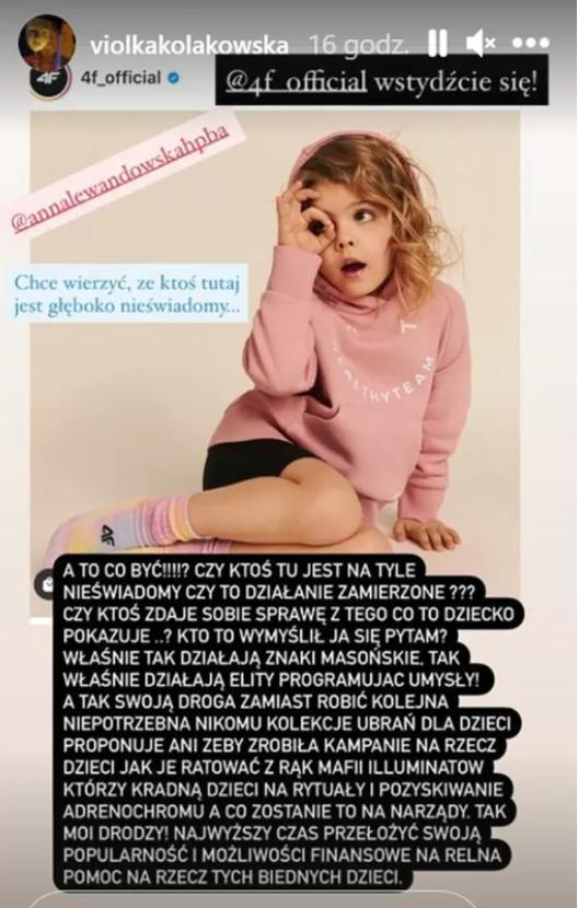 Viola Kołakowska ujawniła masoński spisek? A może to tylko zbyt duża dawka antyprykatora?