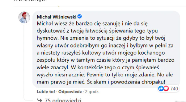 Wiśniewski krytykuje Szpaka za występ w Sopocie