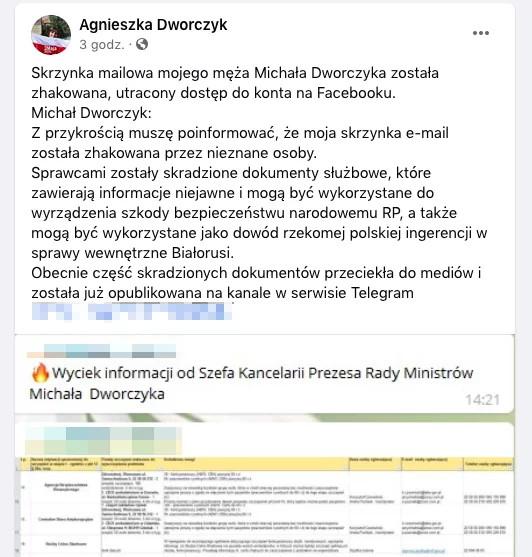 Włamanie na pocztę Michała Dworczyka