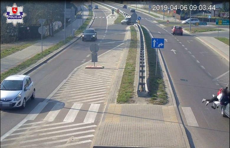 Wupadek na przejściu dla pieszych